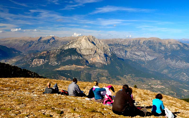 Bergueda   Pedraforca view during a trek through the Pyrenees