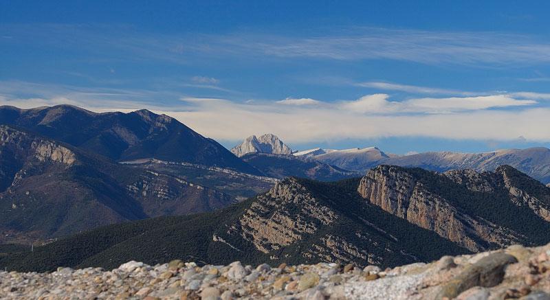 Bergueda   Views from Saldaguda peak during a trek through the Pyrenees