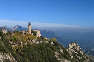 Bergueda   Queralt Sanctuary during a trek through the Pyrenees