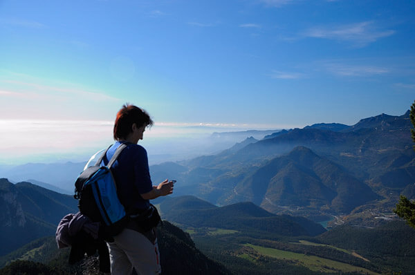Bergueda   Views from Sobrepuny peak during a trek through the Pyrenees