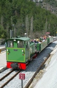 Bergueda   Tourist railway during a trek through the Pyrenees