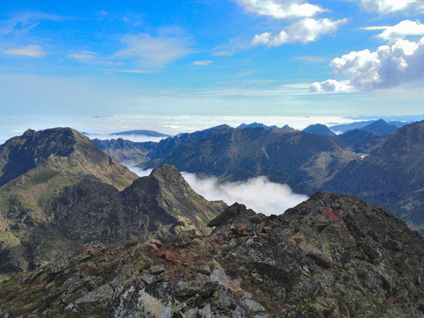 Views from Tristaina peak - Andorra - Pyrenees