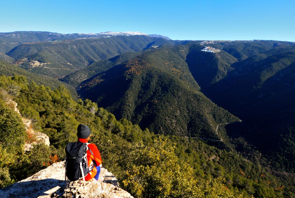 breathtaking views in the Montseny natural park